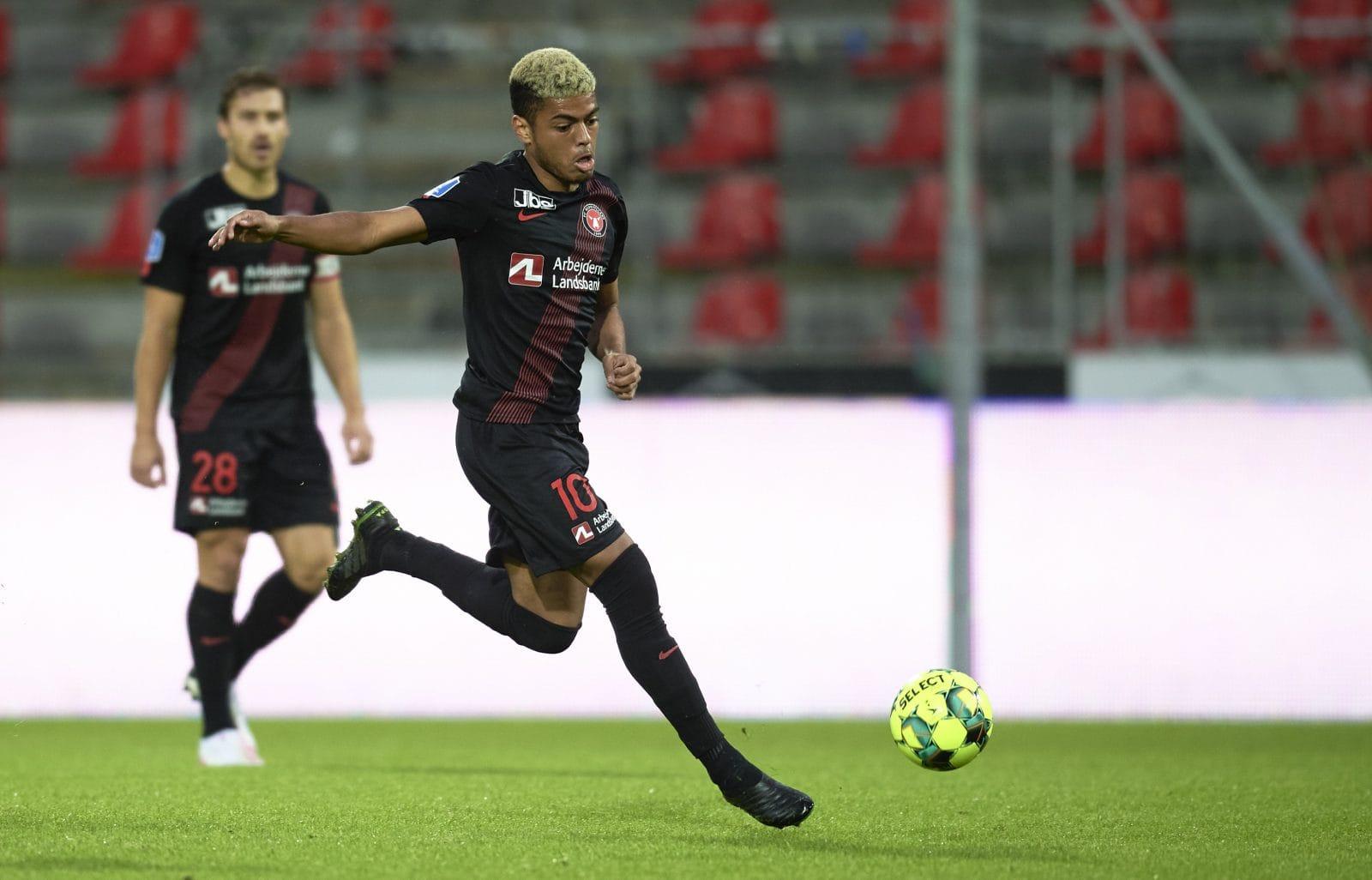 Startopstillingen til braget mod FC København
